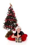 Regalo de Navidad del muchacho Imagen de archivo libre de regalías