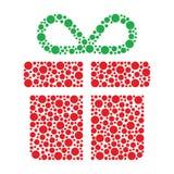 Regalo de Navidad hecho de círculos Fotos de archivo libres de regalías