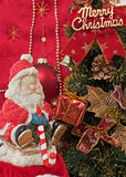 Regalo de Papá Noel y de la Navidad Imagen de archivo libre de regalías