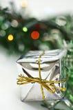 Regalo de plata Imágenes de archivo libres de regalías