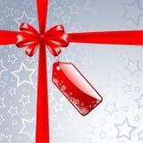 Regalo de plata de la Navidad Fotografía de archivo libre de regalías