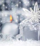 Regalo de plata hermoso Imágenes de archivo libres de regalías