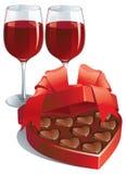 Regalo dei biglietti di S. Valentino Fotografie Stock Libere da Diritti