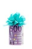 regalo dei soldi dell'euro 500 Fotografia Stock Libera da Diritti