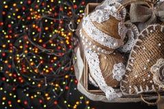 Regalo del Año Nuevo de la Navidad Imágenes de archivo libres de regalías