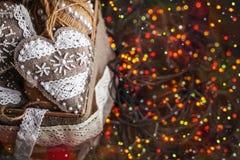 Regalo del Año Nuevo de la Navidad Imagen de archivo libre de regalías