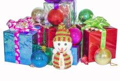 Regalo del Año Nuevo de la Navidad Foto de archivo