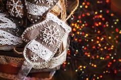 Regalo del Año Nuevo de la Navidad Decoración hecha a mano Fotografía de archivo