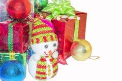 Regalo del Año Nuevo y de la Navidad Fotos de archivo libres de regalías