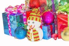 Regalo del Año Nuevo y de la Navidad Imagen de archivo libre de regalías