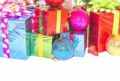 Regalo del Año Nuevo y de la Navidad Imagenes de archivo