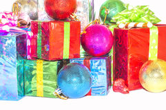 Regalo del Año Nuevo y de la Navidad Imagen de archivo