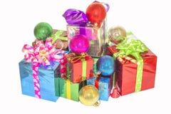 Regalo del Año Nuevo y de la Navidad Fotos de archivo