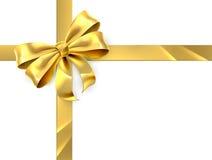 Regalo del arco del oro Foto de archivo libre de regalías