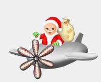 Regalo del Babbo Natale il Babbo Natale e nuovo anno, natale, cartolina d'auguri, saluto, cartolina, inverno, stagione invernale, illustrazione vettoriale