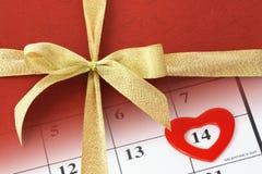 Regalo del biglietto di S. Valentino Fotografie Stock Libere da Diritti