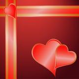 Regalo del biglietto di S. Valentino Fotografia Stock