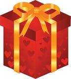 Regalo del biglietto di S. Valentino Immagini Stock