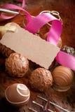 Regalo del cioccolato gastronomico Fotografia Stock Libera da Diritti