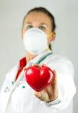 Regalo del corazón Imagen de archivo libre de regalías