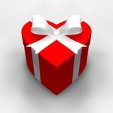 Regalo del corazón Imágenes de archivo libres de regalías