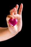 Regalo del corazón Fotografía de archivo