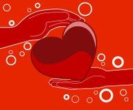 Regalo del corazón del amor - ejemplo Fotografía de archivo libre de regalías