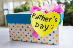 Regalo del día de padre Imágenes de archivo libres de regalías