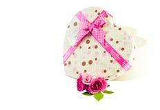 Regalo del día de tarjeta del día de San Valentín Foto de archivo libre de regalías