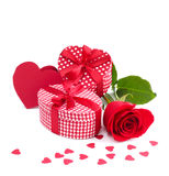 Regalo del día de tarjetas del día de San Valentín Foto de archivo