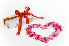 Regalo del día de tarjetas del día de San Valentín Foto de archivo libre de regalías