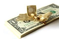 Regalo del dólar Fotografía de archivo libre de regalías