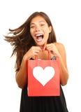 Regalo del día de tarjetas del día de San Valentín Imagenes de archivo