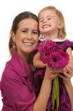 Regalo del día o de cumpleaños de madres Fotos de archivo
