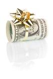 Regalo del dinero de 1 dólar Imagen de archivo libre de regalías