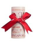 Regalo del dinero de Singapur foto de archivo