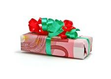 Regalo del euro diez Imágenes de archivo libres de regalías