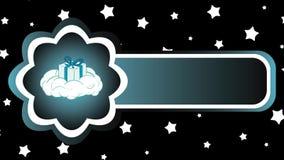 Regalo del icono en la nube y las estrellas libre illustration