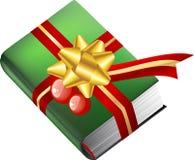 Regalo del libro para la Navidad Fotografía de archivo