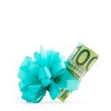 regalo del monej del euro 100 Foto de archivo libre de regalías