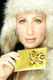 Regalo del oro foto de archivo libre de regalías