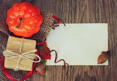 Regalo del otoño Imágenes de archivo libres de regalías