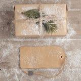Regalo del vintage de la Navidad Imagen de archivo libre de regalías
