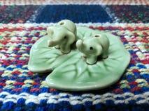 Regalo dell'elefante ceramico Immagini Stock Libere da Diritti