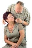 Regalo della collana dal marito Fotografia Stock Libera da Diritti