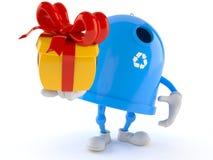 Regalo della tenuta del carattere del recipiente di riciclaggio royalty illustrazione gratis