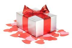 Regalo di amore di giorno dei biglietti di S. Valentino Immagini Stock