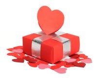 Regalo di amore di giorno dei biglietti di S. Valentino Fotografia Stock