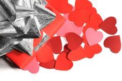 Regalo di amore di giorno dei biglietti di S. Valentino Fotografie Stock Libere da Diritti