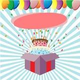 Regalo di buon compleanno Immagine Stock